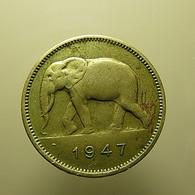 Belgian Congo 2 Francs 1947 - Congo (Belga) & Ruanda-Urundi
