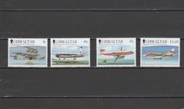 Gibraltar 2006 Michel 1177-1180 Gibraltar Airmail Service 75th Anniversary, Aviation, Airplanes Set Of 4 MNH - Gibraltar