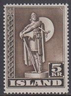 1943. Viking. 5 Kr. Dark Brown. Perf. 14 (Michel 230A) - JF361908 - Nuovi