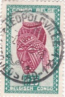 "TIMBRE 0028 - Congo Belge - Y&T BE-CD 286 De 1948 - 1 Franc 25 Cts - ""Ngadimuashi"" Female Mask - Congo Belge"
