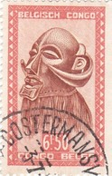 """TIMBRE 0029 - Congo Belge - Y&T BE-CD 291A De 1949 - 6 Francs 50 Cts - """"Mbawa"""" Executioner's Mask With Buffalo Horns - Congo Belge"""