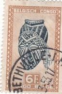 "TIMBRE 0030 - Congo Belge - Y&T BE-CD 291 De 1948 - 6 Francs - ""Ngadimuashi"" Female Mask - Congo Belge"