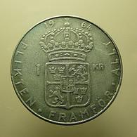 Sweden 1 Kronor 1964 Silver - Sweden