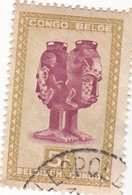 """TIMBRE 0031 - Congo Belge - Y&T BE-CD 290 De 1948 - 5 Fr - """"Mbuta"""" Sacred Double Cup Carved With Faces Of Man And Woman - Congo Belge"""