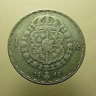 Sweden 1 Kronor 1948 Silver - Sweden