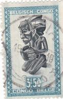 "TIMBRE 0032 - Congo Belge - Y&T BE-CD 289 De 1948 - 3 Francs 50 Centimes - ""Buangakokoma"" Statue Of Kneeling Beggar - Congo Belge"