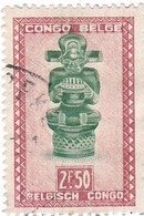 """TIMBRE 0034 - Congo Belge - Y&T BE-CD 288 De 1947 - 2 Francs 50 Centimes - """"Ndoha"""" (Seated King Named Bope Kena) - Congo Belge"""