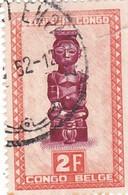 "TIMBRE 0035 - Congo Belge - Y&T BE-CD 287 De 1948 - 2 Francs - ""Ndoha"" (Seated King Named Bope Kena) - Congo Belge"