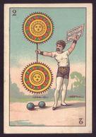Cartão Publicidade PAPEL HIGIENICO P/ CIGARROS Rua S.Antonio PORTO. Victorian Trade Card CIRCUS CHROMO Portugal 1880s - Cromo