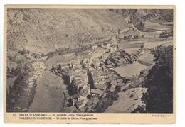 CPSM ANDORRE VALLS D'ANDORRA ST JULIA DE LORIA Vista General Vue Générale Claverol Timbre 1949 - Andorra