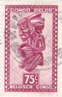 "TIMBRE 0039 - Congo Belge - Y&T BE-CD 284 De 1948 - 75 Centimes - ""Buangakokoma"" Statue Of Kneeling Beggar - Congo Belge"