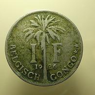 Belgian Congo 1 Franc 1926 - Congo (Belga) & Ruanda-Urundi