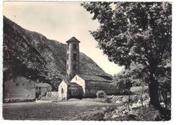 CPSM ANDORRE VALLS D'ANDORRA SANTA COLOMA Esglesia Romanica Segle XI Eglise Style Romain Timbre 1958 - Andorra