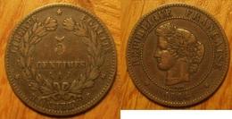 Cérès - 5 Centimes 1884A - France