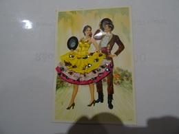 CPA ESPAGNE - Couple De Danseur & Danseuse Corsage Brodé Et Jupe Tissu A Paillettes  TBE - Embroidered