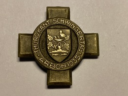 Sport Insigne ARBON Thurgau Kant. Schwingertag 1935 Suisse Sportabzeichen - Gymnastique