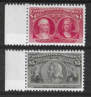 ETATS-UNIS 1893 YT 95/96 - SCOTT 244/245 - ISABELLA AND COLUMBUS - COPIE/FAUX - 1847-99 Unionsausgaben