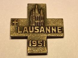 Sport Insigne Lausanne 1951 Suisse Sportabzeichen - Sports D'hiver