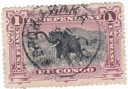 TIMBRE 0083 - Congo Etat Libre - Y&T CD-FS 26 De 1901 - 1 Franc - African Elephant (Loxodonta Africana) - Congo Belga