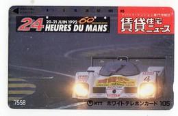 TELECARTE JAPON 24 HEURES DU MANS 20 Juin 1992 - Sport