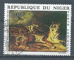 Niger Poste Aérienne YT N°216 Tigres Par Delacroix Oblitéré ° - Níger (1960-...)