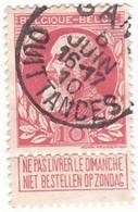 TIMBRE 0099 - Belgique - Y&T BE 74 De 1905 - Indépendance - 10 Centimes - 1905 Barba Grossa