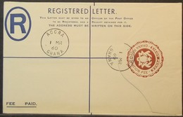 Ghana - FDC Stamped Stationery Registered Cover 1960 - Ghana (1957-...)
