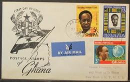 Ghana - Registered FDC Cover To USA 1961 Nkrumah - Ghana (1957-...)