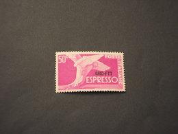 TRIESTE ZONA A - ESPRESSI - 1952 PIEDE ALATO L. 50, Ruota 1a - NUOVI(++) - 7. Trieste