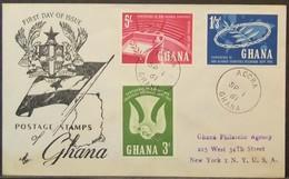 Ghana - Registered FDC Cover To USA 1961 Non-Aligned - Ghana (1957-...)