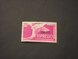 TRIESTE ZONA A - ESPRESSI - 1952 PIEDE ALATO L. 50, Ruota 3a - NUOVI(++) - 7. Trieste