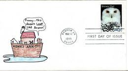 USA, FDC,  Bird   /  Les Etats Unies,  Lettre De Première Jour,  Oiseau   1999 - Hiboux & Chouettes