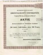 Titre Ancien - Compagnie D'Exploitation Des Chemins De Fer Orientaux  - Titre De 1906 - N° 15068 - Chemin De Fer & Tramway