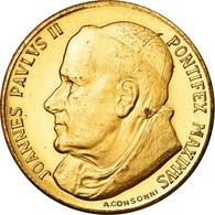 Vatican, Médaille, Le Pape Jean-Paul II, Consonni, TTB, Copper Gilt - Andere
