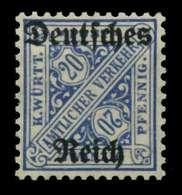 D-REICH DIENST Nr 60Y Postfrisch Gepr. X6F0096 - Dienstpost