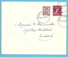 724N (-10% ) (Lokale Opdruk) Op Brief Met Stempel DOTTIGNIES - 1946 -10%