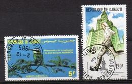 DJIBOUTI N° 596 Et Pa 136  Oiseau + JO De Moscou - Dschibuti (1977-...)