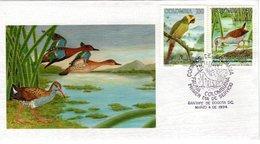 COLOMBIA, FDC, Parrot,  /  COLOMBIE, Lettre De Première Jour, Perroquet, Râle    1994 - Vögel