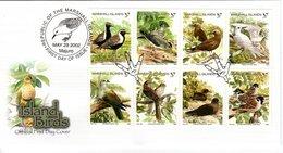MARSHALL ISLANDS, FDC, Island Birds   /   Lettre De Première Jour,  Îles De Marshall, Oiseaux D`islande,   2002 - Vögel