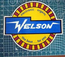 WELSON ELECTRONIC ORGANS STICKER  ADESIVO NEW ORIGINAL - Pegatinas