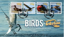 TOKELAU, FDC, Birds   /   Lettre De Première Jour,  Oiseaux Dse Tokelau,   2017 - Vögel