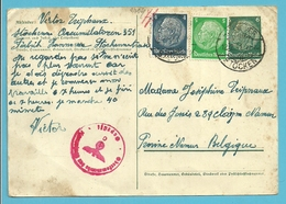 TRAVAILLEURS CIVILS BELGES En Allemagne, Kaart(Fabrick) Stempel HANNOVER 1941 Naar NAMUR ,censuur - Weltkrieg 1939-45