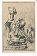 Carte Militaire Humoristique Sur Le Front Puis Sur Tes Lèvres  ( Illustrateur P. REMY  ) - Humoristiques