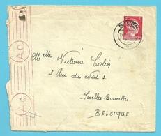 """TRAVAILLEURS CIVILS BELGES En Allemagne,Brief Vanuit """"schweizerhaus-lager"""" NAUEN Op 15/2/1943 Naar IXELLES , Gepruft - Weltkrieg 1939-45"""