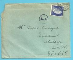 "TRAVAILLEURS CIVILS BELGES En Allemagne,Brief Vanuit ""JUNKERS Werkheim"" MAGDEBURG Op 26/12/42 Naar MALDEGEM , Gepruft - Weltkrieg 1939-45"