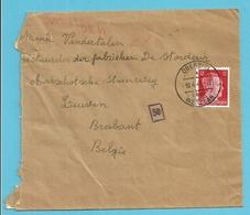 "TRAVAILLEURS CIVILS BELGES En Allemagne,Brief  Vanuit ""GEMEINSCHAFTSHEIM STALWERKE"" OBERBIEL  Naar LEUVEN - Weltkrieg 1939-45"