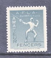 U.S.  OLYMPIC  VIGNETTE   1932   **   FENCING - Sommer 1932: Los Angeles