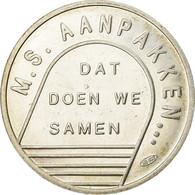Pays-Bas, Médaille, Levenslÿn, M.S Aanpakken, 1992, SUP+, Argent - Netherland