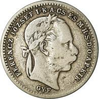 Monnaie, Hongrie, Franz Joseph I, 20 Krajczar, 1870, Karlsburg, TB, Argent - Hungría