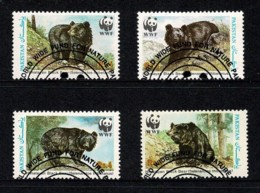 Pakistan 1989 Himalayan Bear WWF Set Of 4 Used - Pakistan